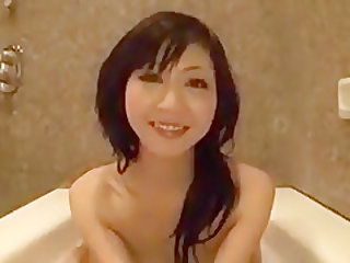 Japanese wife blowjob in bathtub