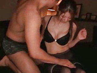 Pantyhose fetish along beautiful Japanese in need for a fuck