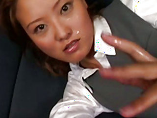 Lovely officelady gives amazing blowjob