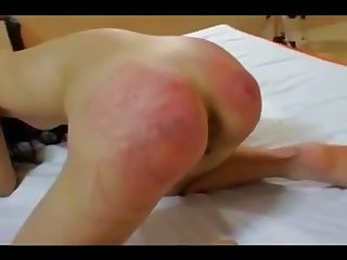 Japanese ass spanked real hard