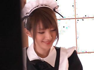 Extremely sexy Japanese maid Tsubasa Amami squirts