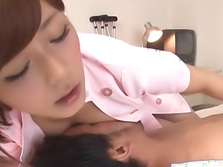 Lovely Satou Haruka makes guy to moan of pleasure
