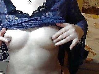 Chinese mom Showing big long Nipples
