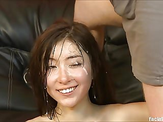 Mayli just turned 18 and gets throat fucked and degraded