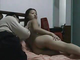 Sweet Chinese pair having sex