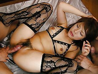 Lingerie beauty, Sara Nakamura, fucked in rough modes