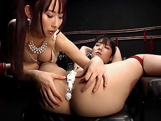 Sayo Arimoto & Yui Misaki in Tied Up Girl Gets Her Pussy Creamed - JapansTiniest