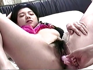 Japanese Co-Ed Gets Her Pussy Nailed