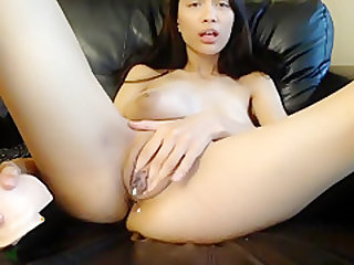 Amazing Amateur clip with Asian, Solo scenes